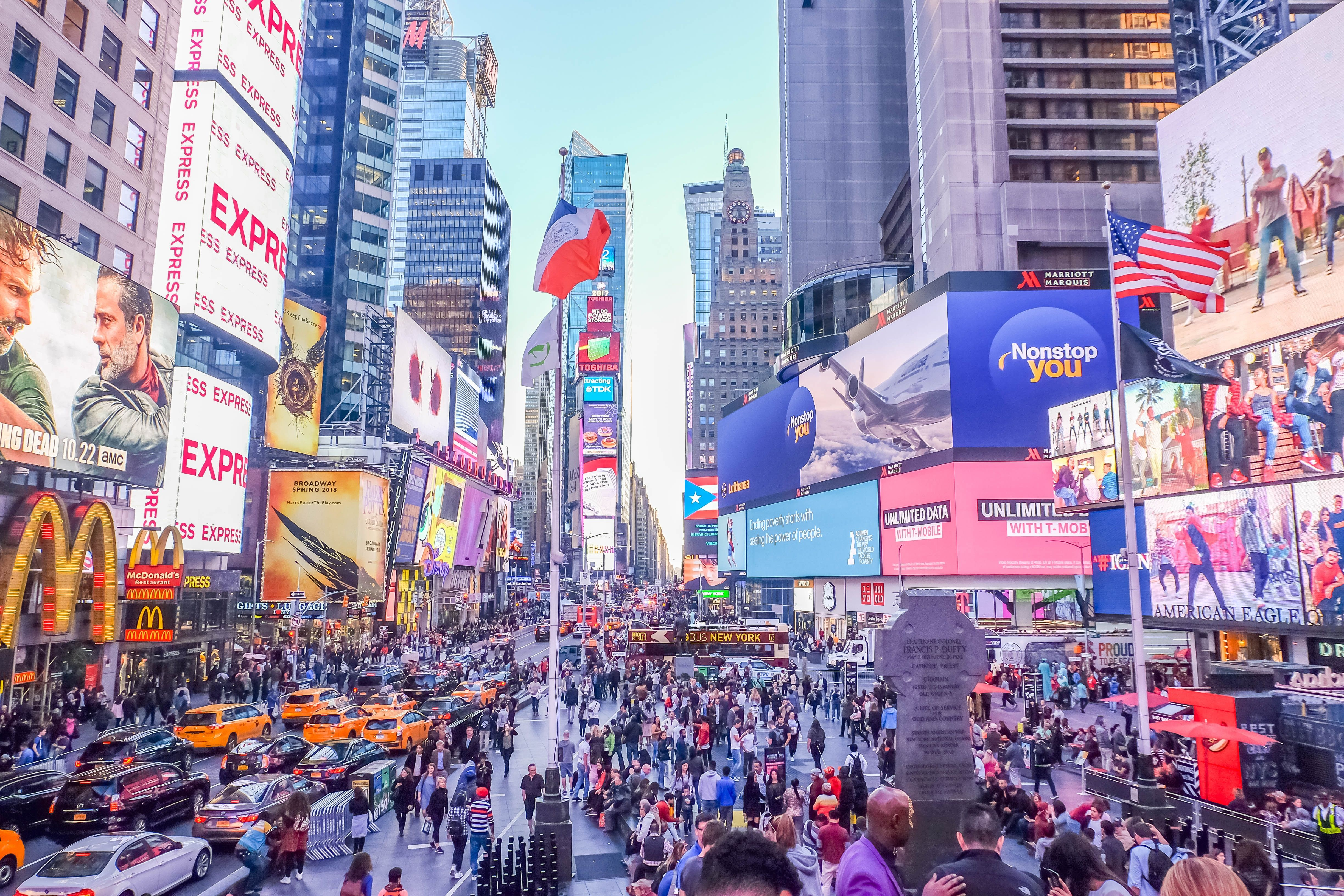 Times Square charter bus rentals